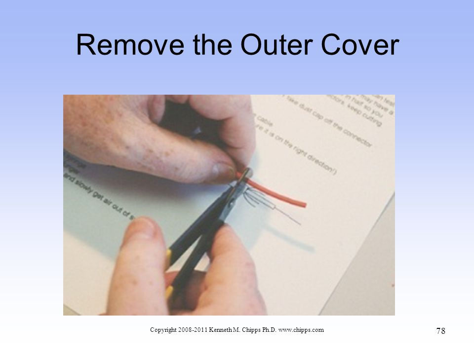 Remove the Outer Cover Copyright 2008-2011 Kenneth M. Chipps Ph.D. www.chipps.com 78