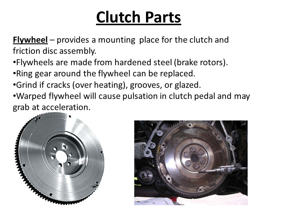 Clutch Parts Pilot Bearing – bushing or bearing that supports the forward end of the transmission input shaft.