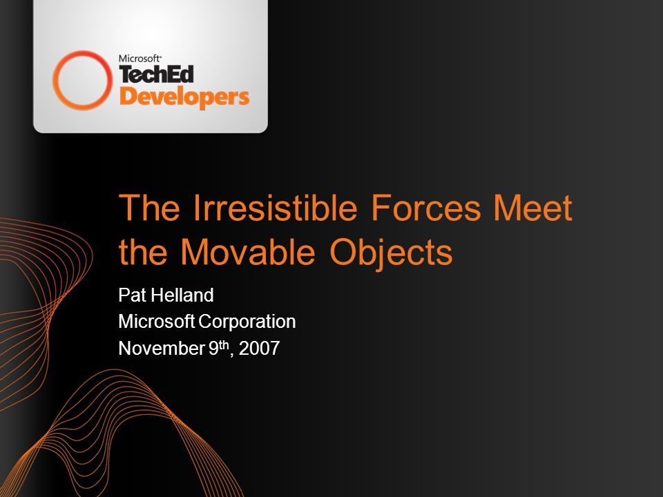 The Irresistible Forces Will Move the Objects! Slide 62