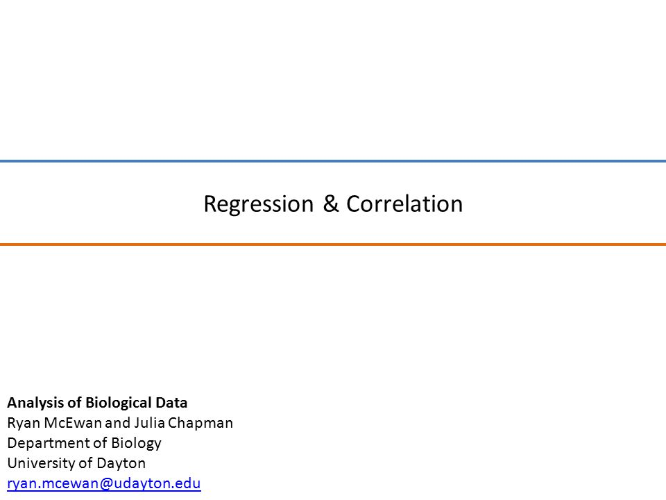 Simple linear regression is a standard technique in the Analysis of Biological Data: The main idea is assessing the relationship between two variables, assuming that the relationship is direction and linear…and assuming that one variable is a driver of the relationship.