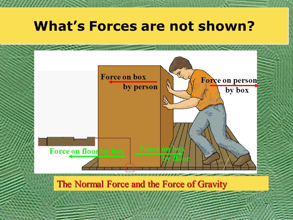 7 What's Forces are not shown.