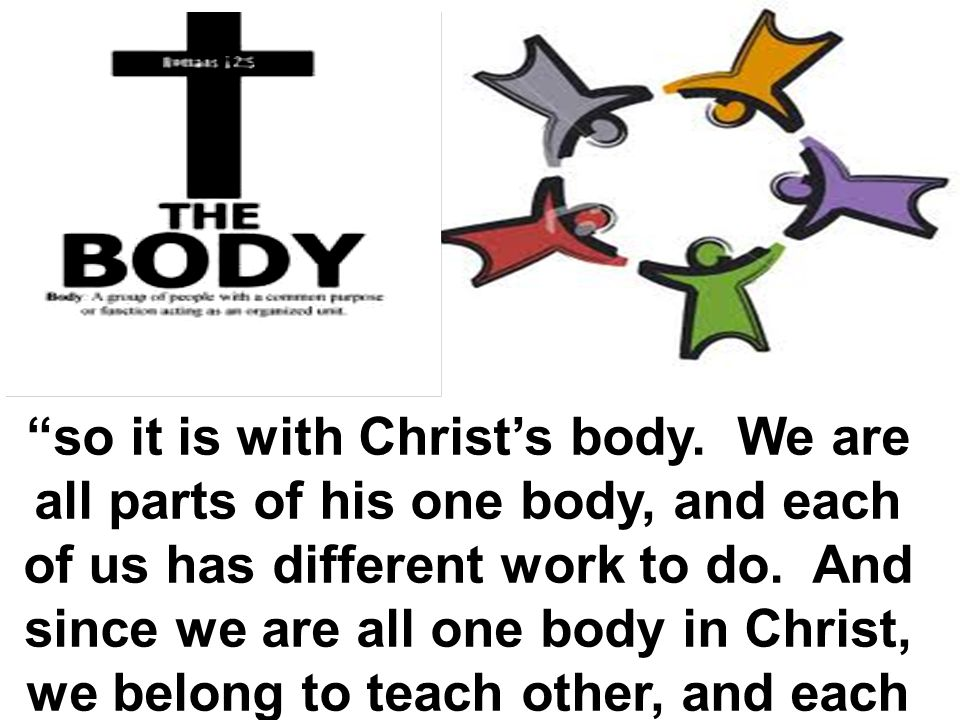 so it is with Christ's body.