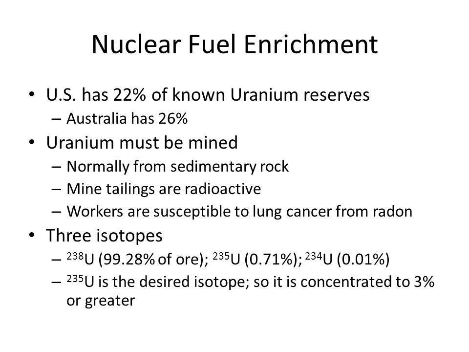 Nuclear Fuel Enrichment U.S.