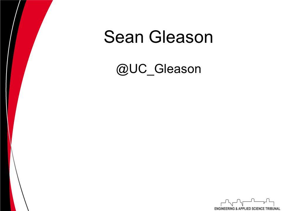 Sean Gleason @UC_Gleason