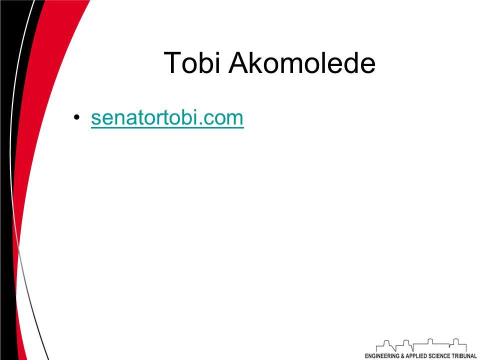 Tobi Akomolede senatortobi.com