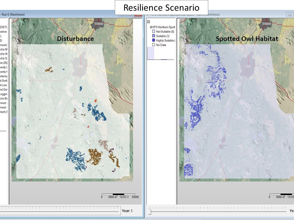 Disturbance Resilience Scenario Spotted Owl Habitat