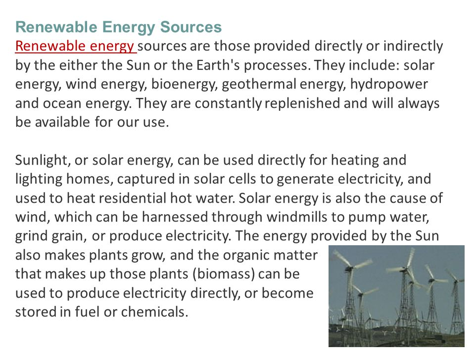 Geothermal energy uses the Earth s internal heat to make steam, which can produce electric power or heat buildings.