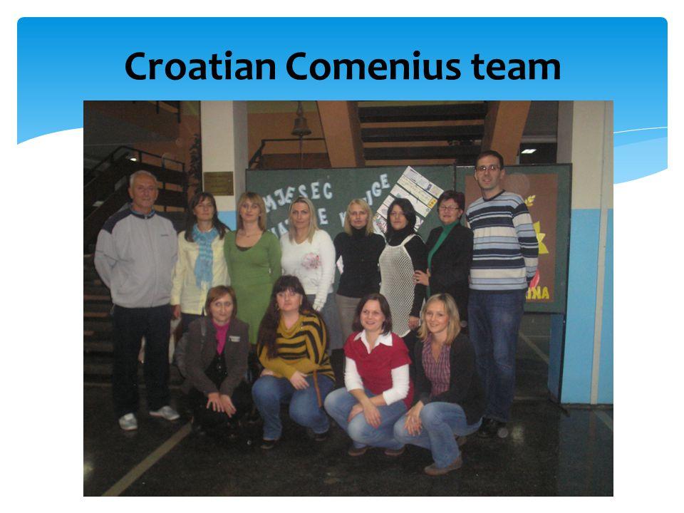 Croatian Comenius team