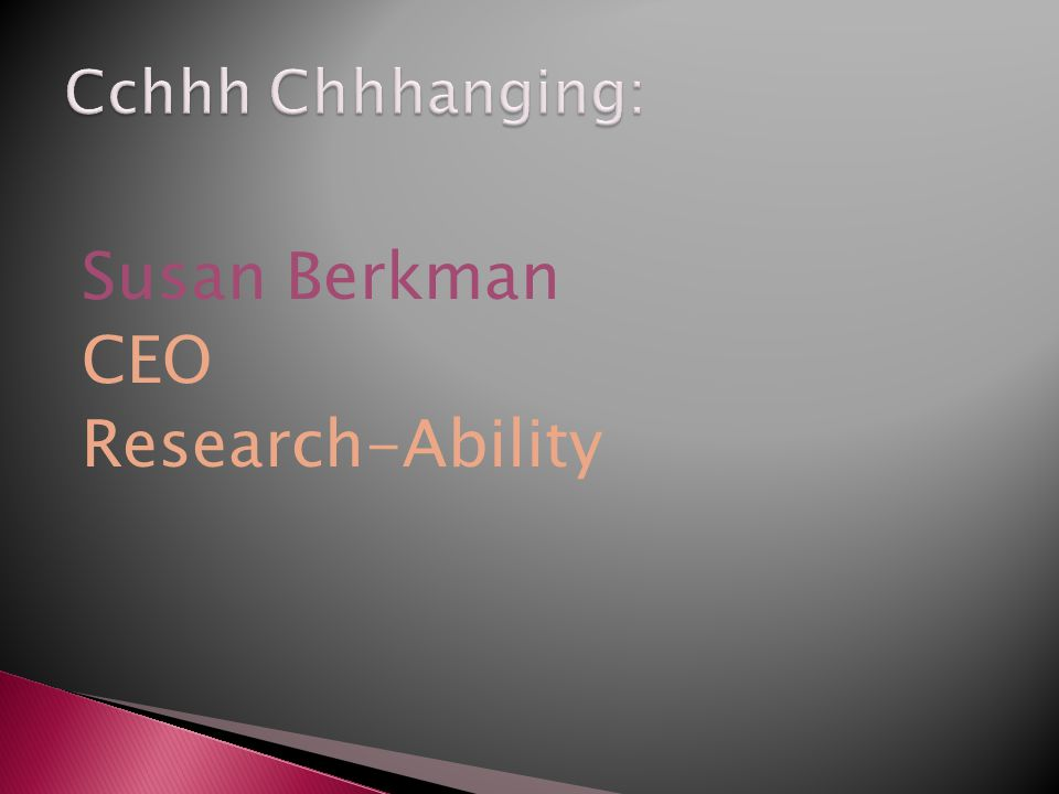 Susan Berkman CEO Research-Ability