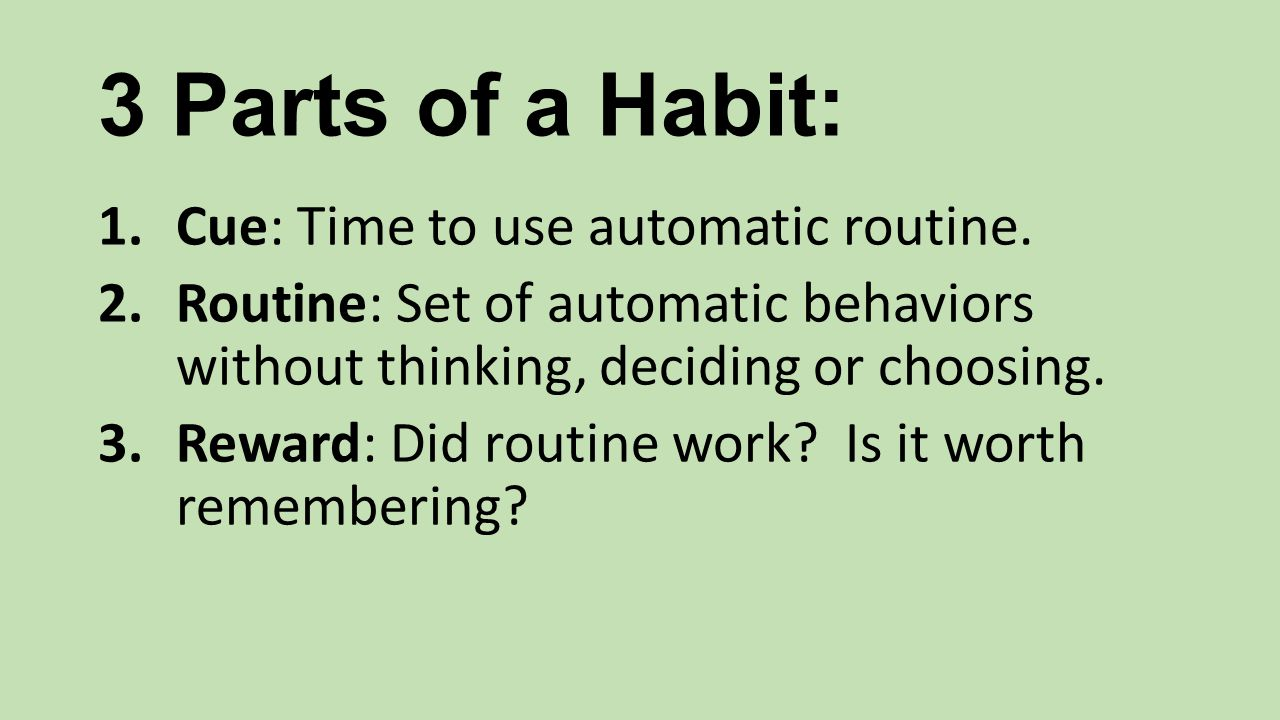What Makes Habits Stick . Shoulds get you going for a month or two.