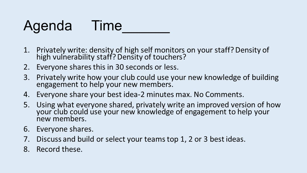 AT YOUR TABLE-Self Managed Team Roles Discussion Leader Everyone gets speaking time.