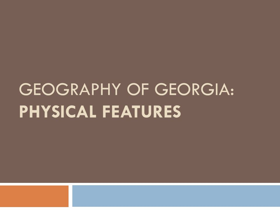 6 Physical Features: ① Fall Line ② Okefenokee Swamp ③ Appalachian Mountains ④ Chattahoochee River ⑤ Savannah River ⑥ Barrier Islands