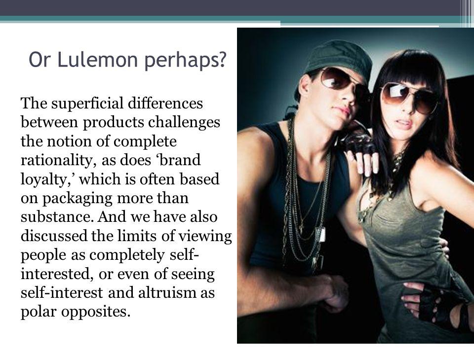Or Lulemon perhaps.