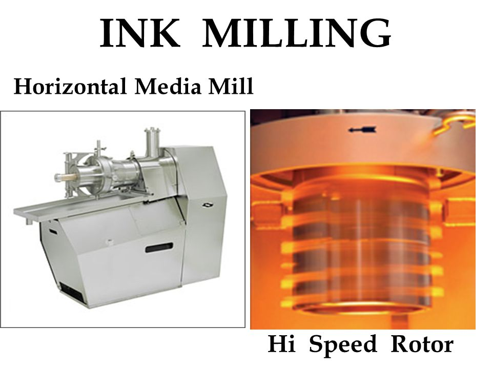 INK MILLING Horizontal Media Mill Hi Speed Rotor