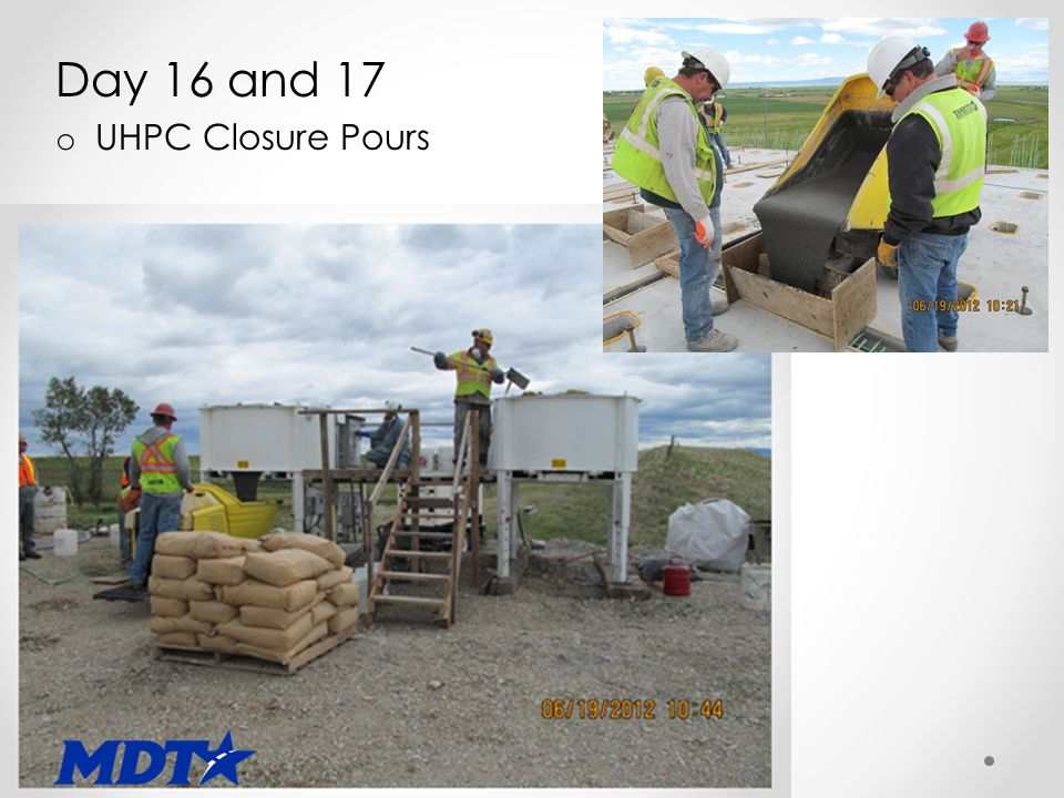Day 16 and 17 o UHPC Closure Pours