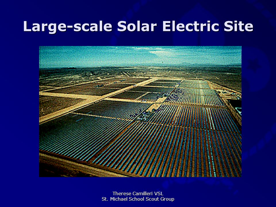 Therese Camilleri VSL St. Michael School Scout Group Large-scale Solar Electric Site