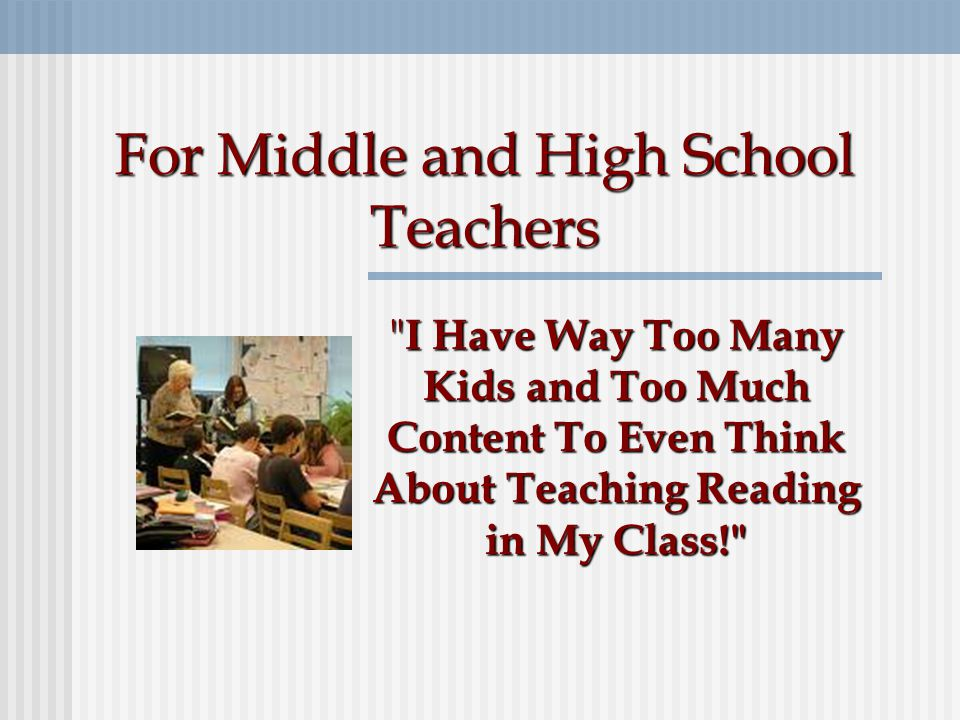 Do teachers of adolescents in both English and other content area classes believe this.