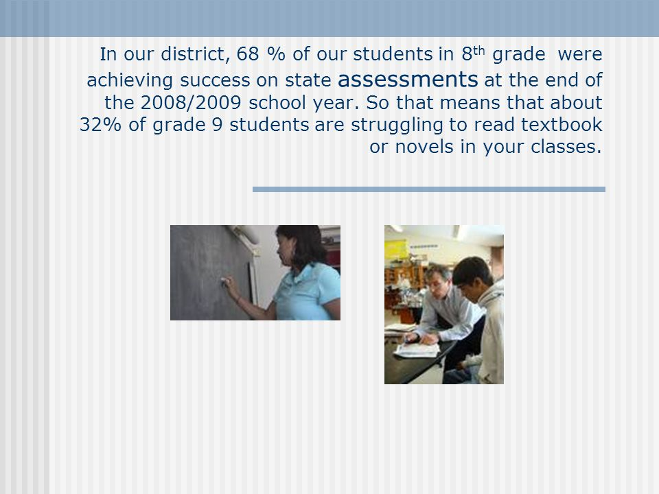 HOW could teaching students reading strategies within our 6-12 classrooms possibly make a difference???.