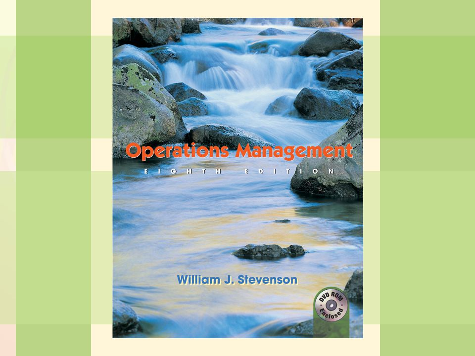 6-1Process Selection and Facility Layout William J. Stevenson Operations Management 8 th edition