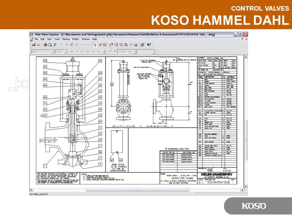 CONTROL VALVES KOSO HAMMEL DAHL