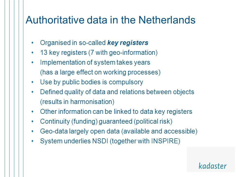 Considerations for the future How adaptive will key registers be.