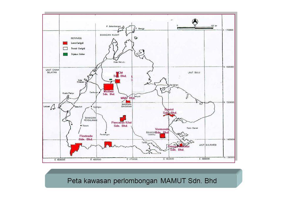 Peta kawasan perlombongan MAMUT Sdn. Bhd