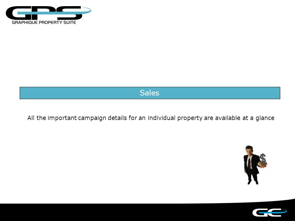 SALES: Track a property from when it is first appraised to when it is sold