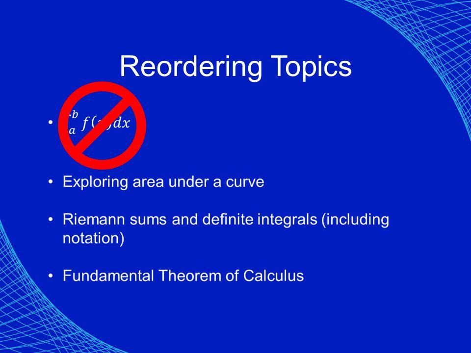Reordering Topics