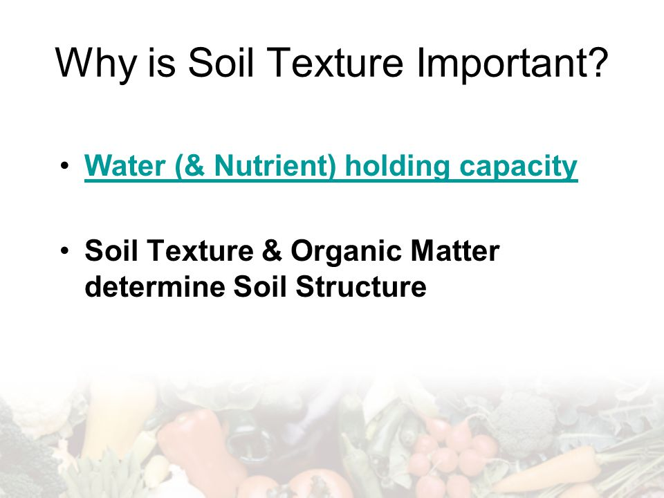 Why is Soil Texture Important.