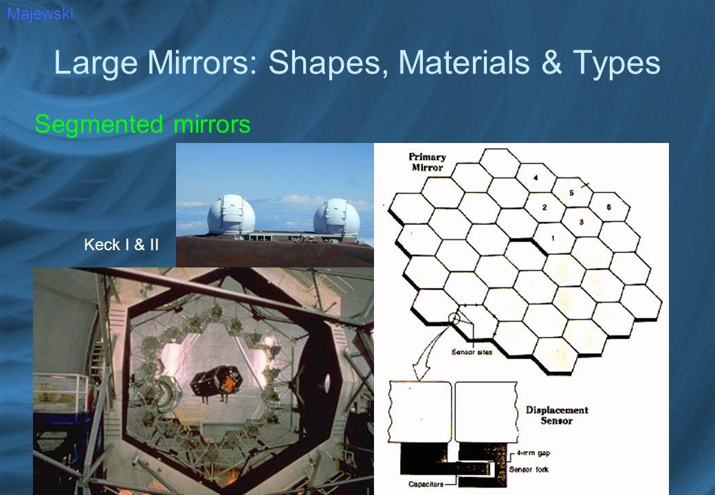 Large Mirrors: Shapes, Materials & Types Segmented mirrors Majewski Keck I & II