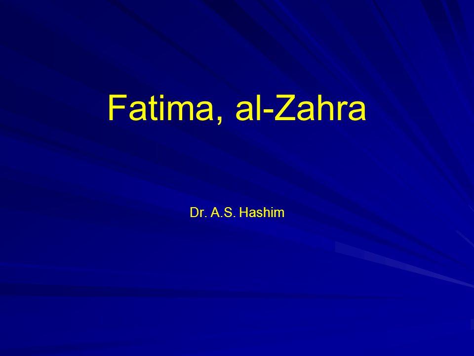 Fatima, al-Zahra Dr. A.S. Hashim
