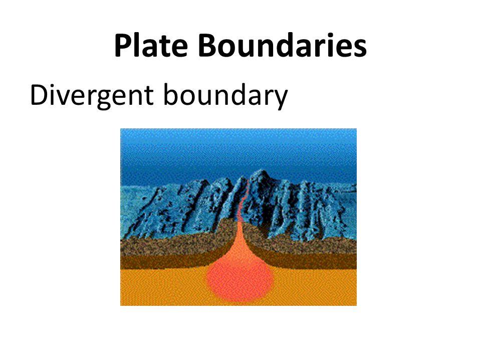 Plate Boundaries Divergent boundary