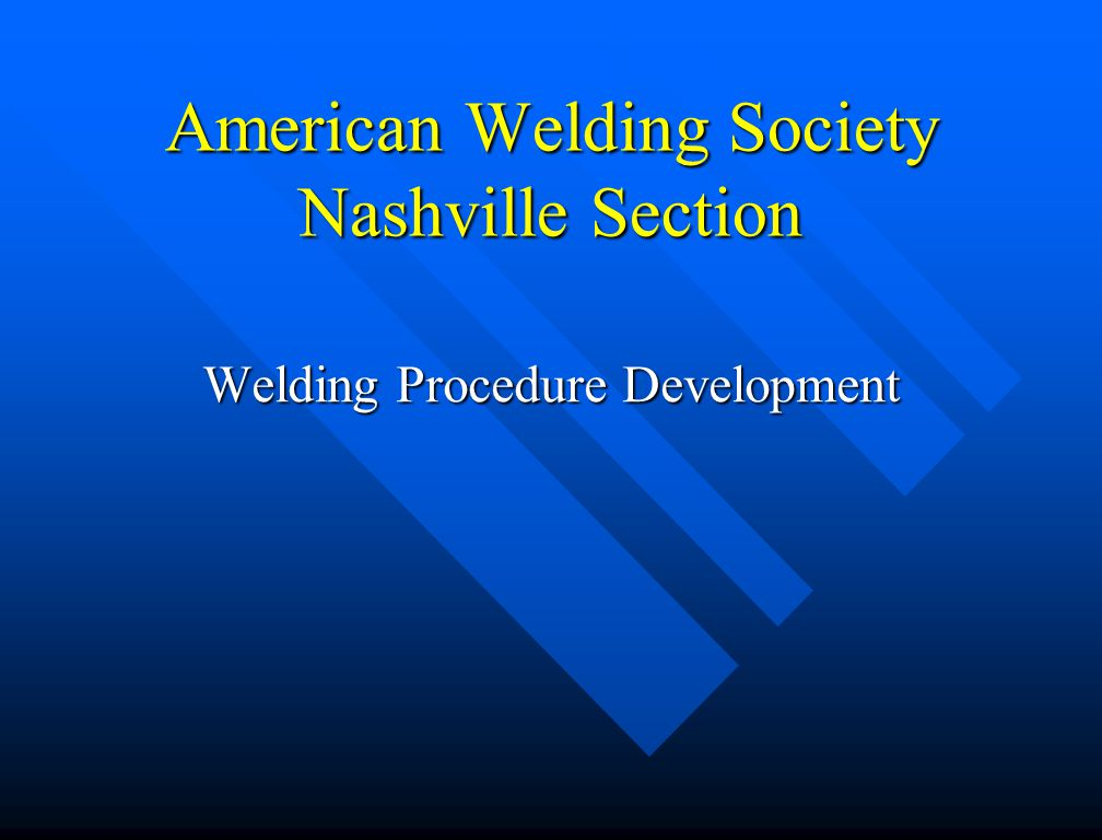 Welding Data (ASME Sect IX) The welding variables table refers to the paragraph in the welding data section of the Code The welding variables table refers to the paragraph in the welding data section of the Code –These paragraphs give rules for specific applications (specific variables)