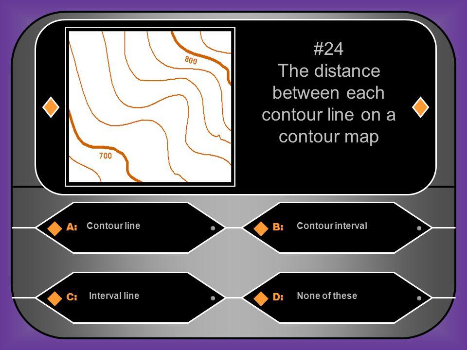 A. Contour line