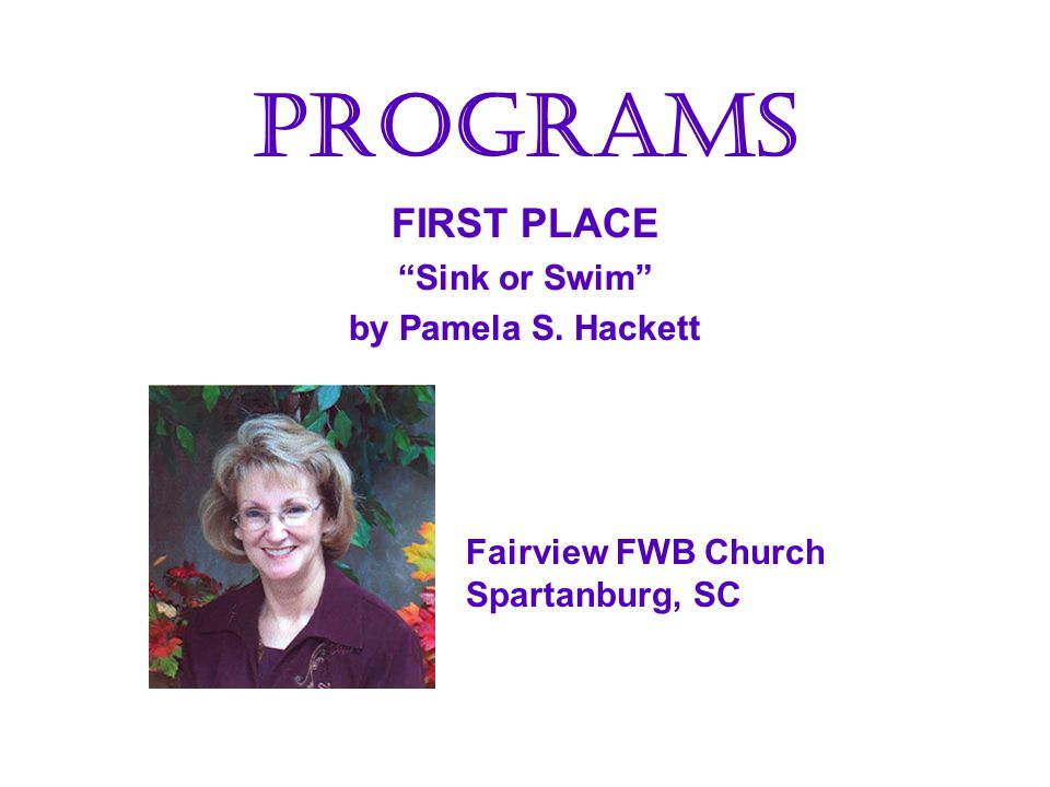 SECOND PLACE Living Water by Janis Williams Living Water by Janis Williams ART LaVergne FWB Church LaVergne, TN