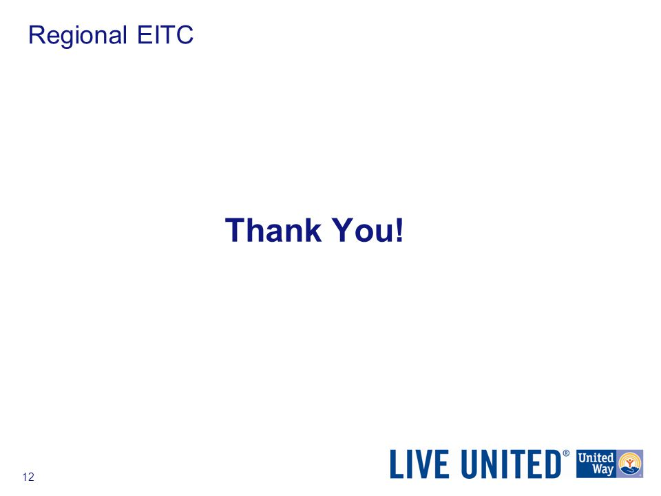 12 Regional EITC Thank You!