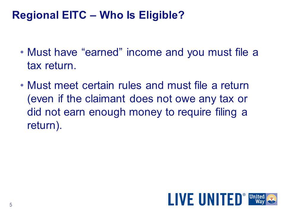 6 Regional EITC – Who Is Eligible.