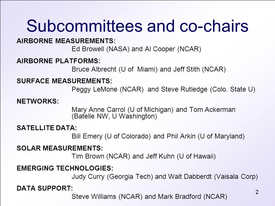 3 Proposed memberships 1.Bill Brune (Penn.State): In Situ Gas Measurements 2.