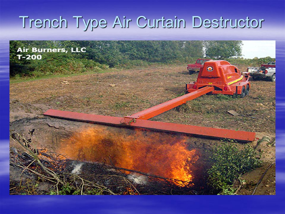 Trench Type Air Curtain Destructor