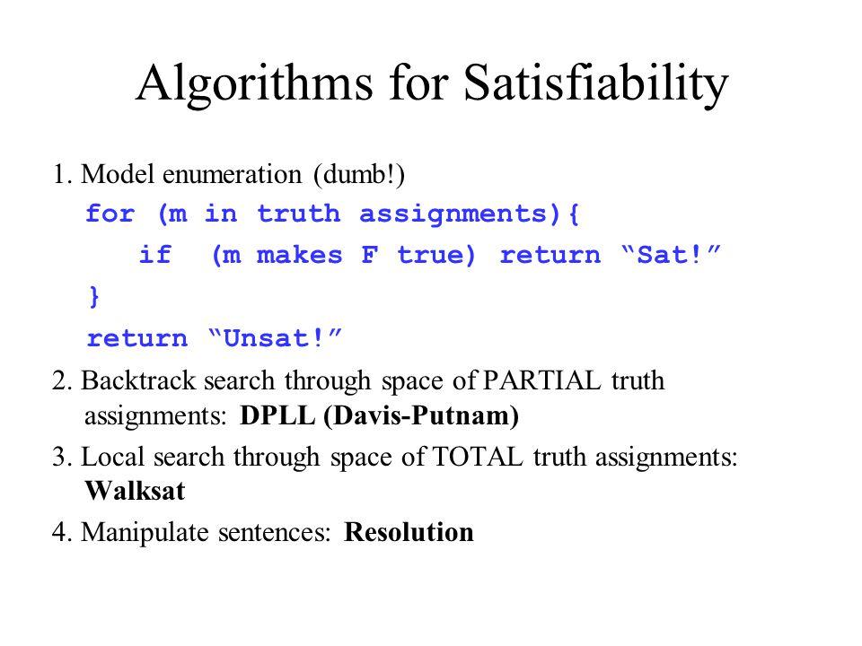 Algorithms for Satisfiability 1.
