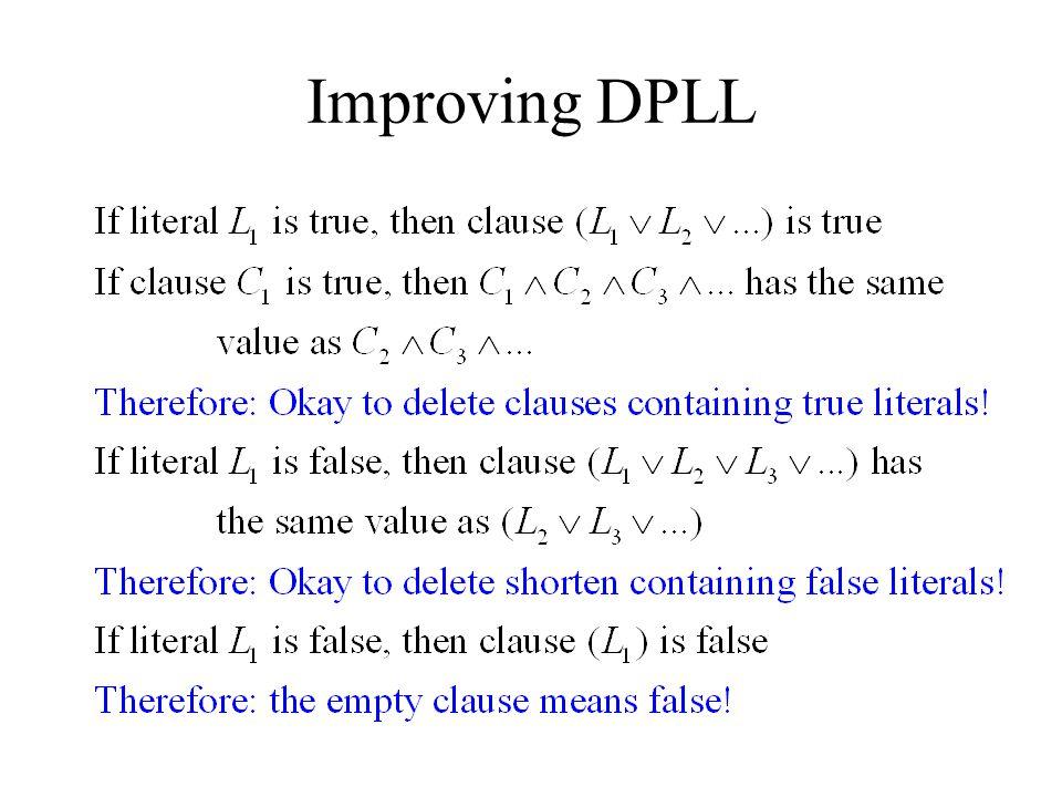 Improving DPLL
