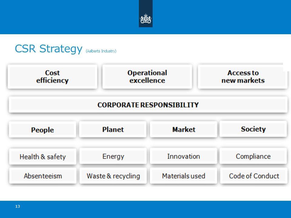 CSR Strategy (Aalberts Industry) 13