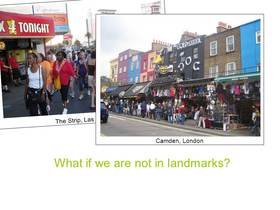 The Strip, Las Vegas Camden, London What if we are not in landmarks