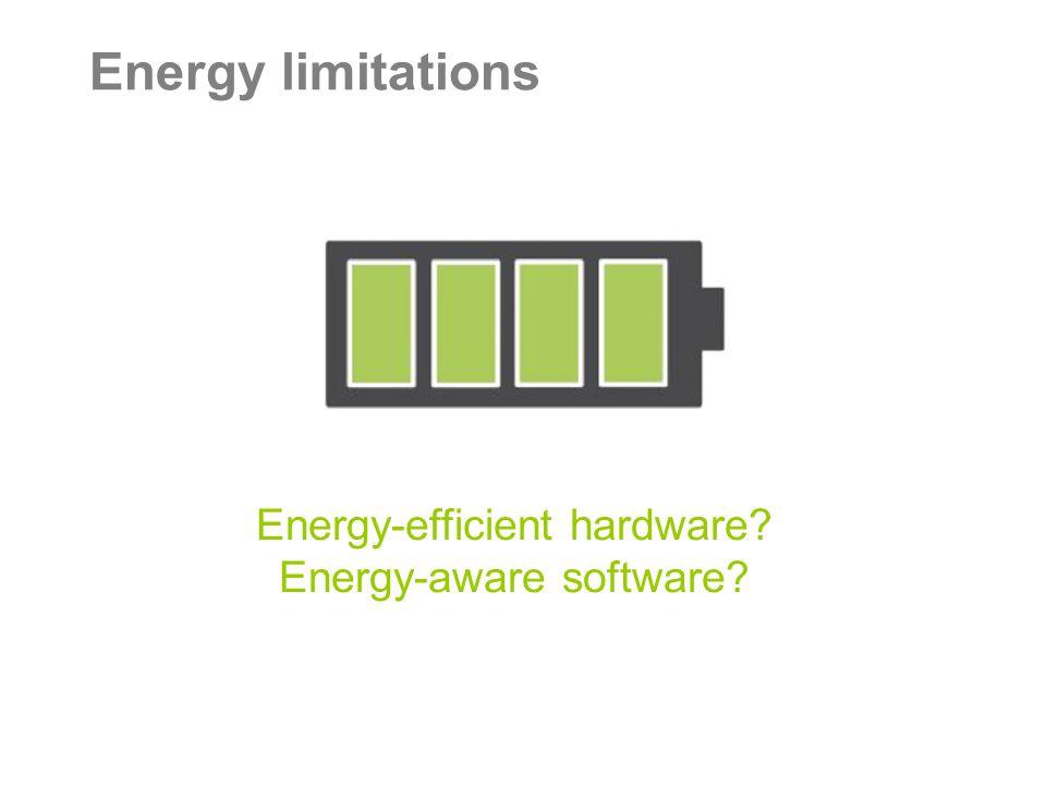Energy limitations Energy-efficient hardware Energy-aware software