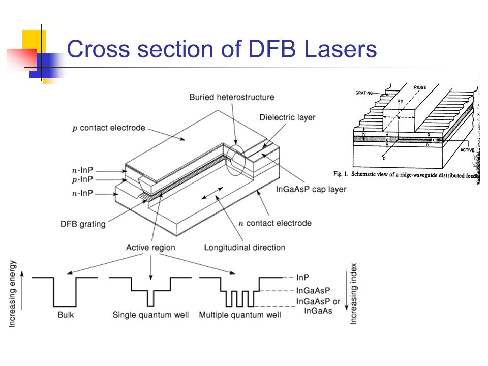 Cross section of DFB Lasers