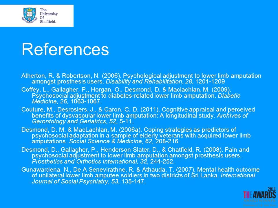 References Hanley, M.A., Jensen, M. P., Ehde, D. M., Hoffman, A.