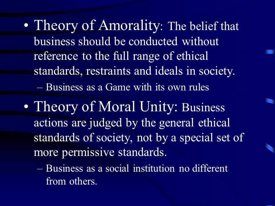 Overlap Model Actions are ethical, but not moral or legal. (e.g. Apartheid laws )