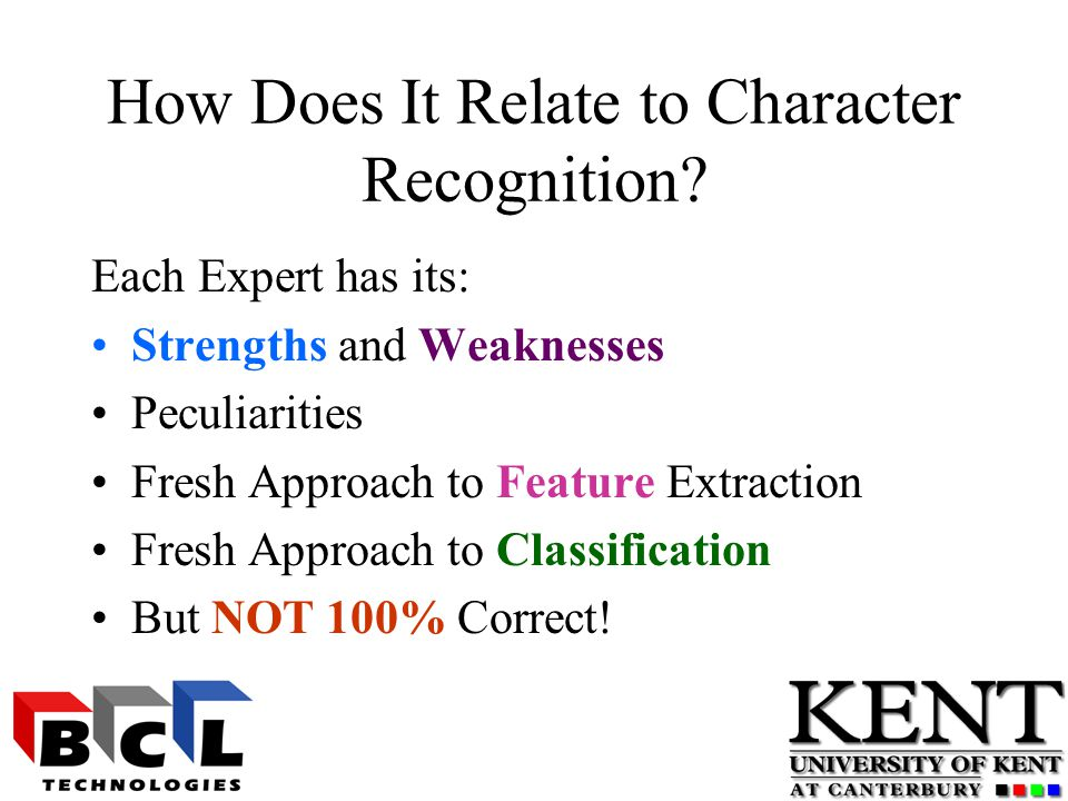How Does It Relate to Character Recognition.