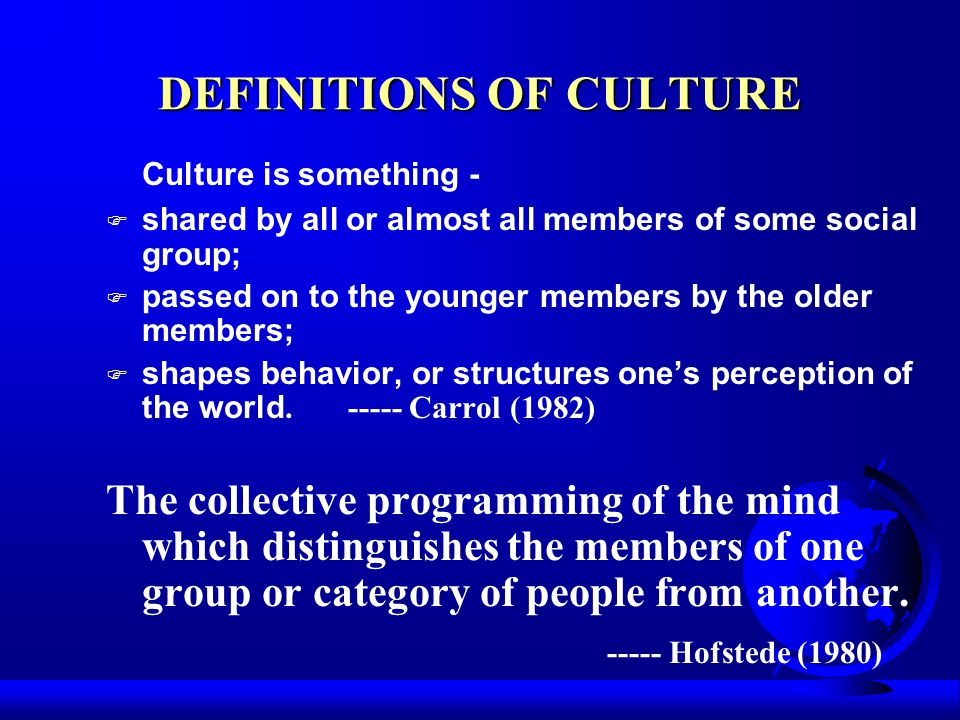 Cultural Orientations ---Activity F What is human's naturally preferred of activity.