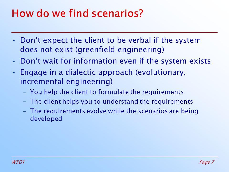 Page 7W5D1 How do we find scenarios.